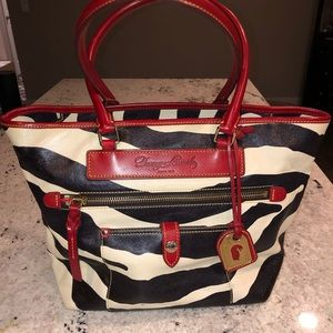 Dooney and Bourke zebra print leather bag
